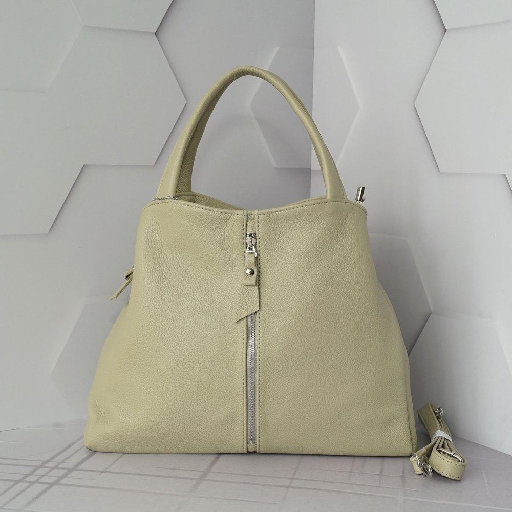 Кожаная женская сумка №225 бежевый