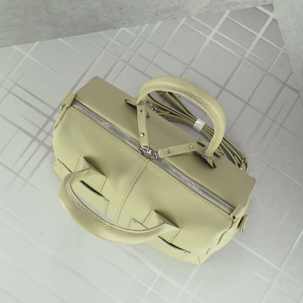 Кожаная женская сумка №232 Бежевая