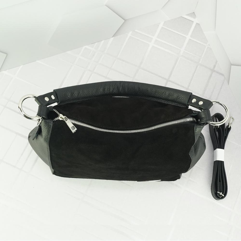 Кожаная женская сумка №213 черный
