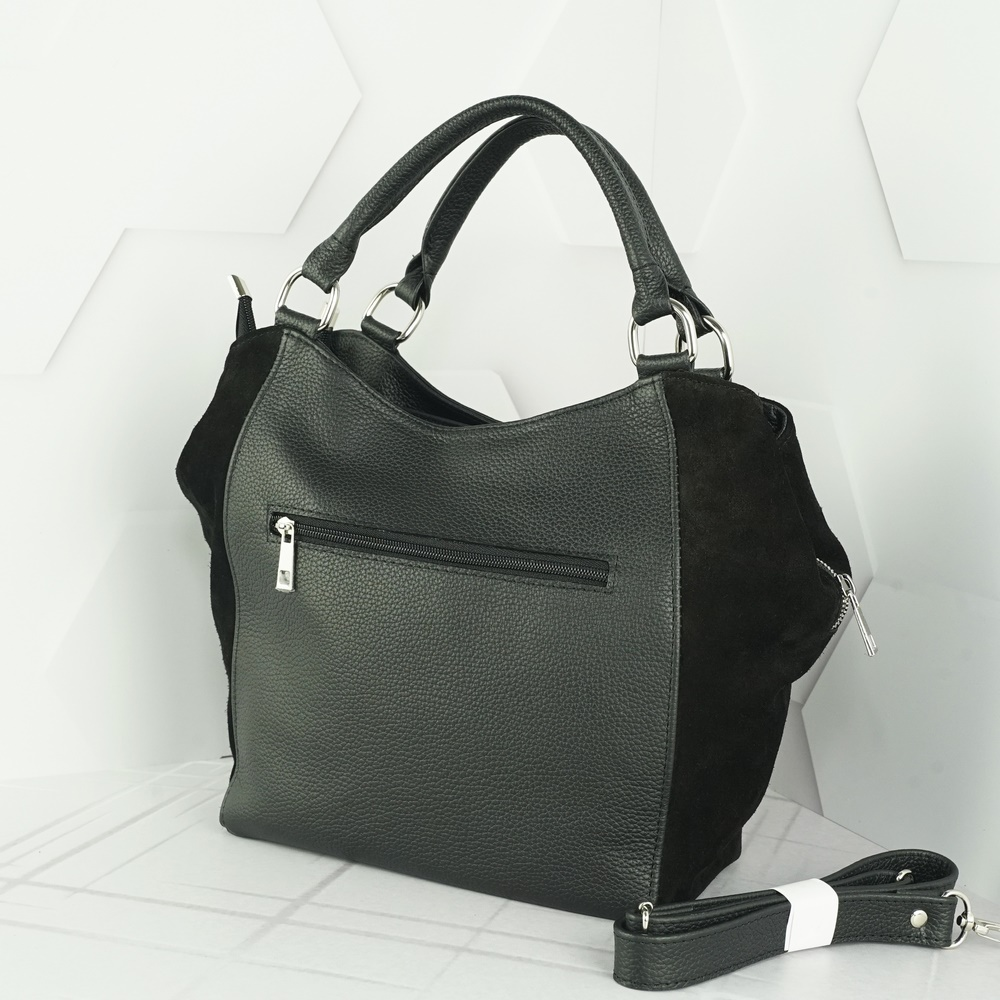 Кожаная женская сумка №215 черный