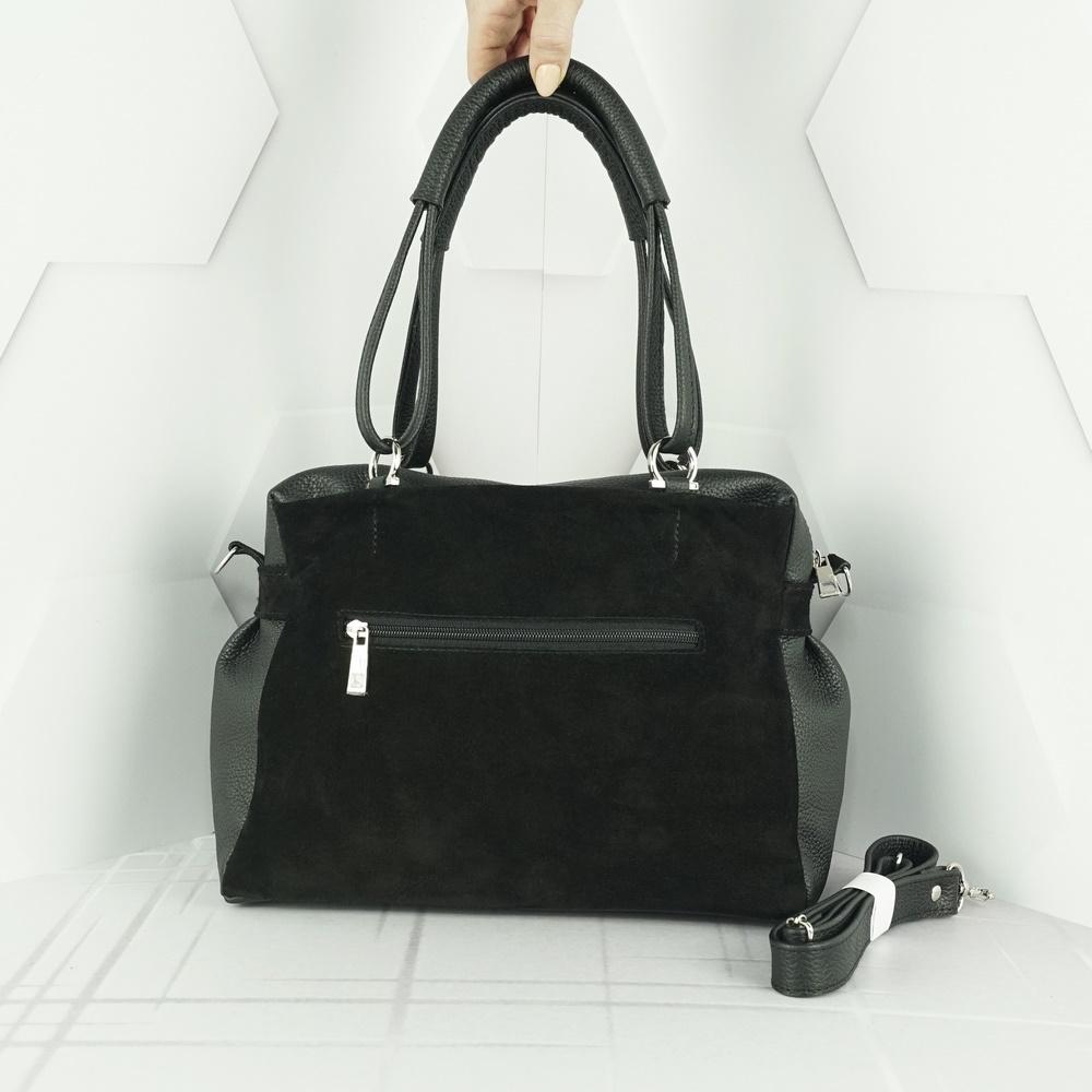 Кожаная женская сумка №216 черный
