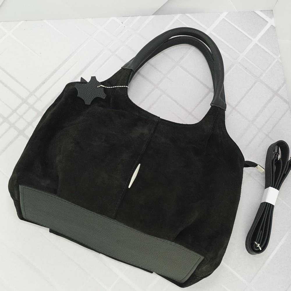 Кожаная женская сумка №217 черный