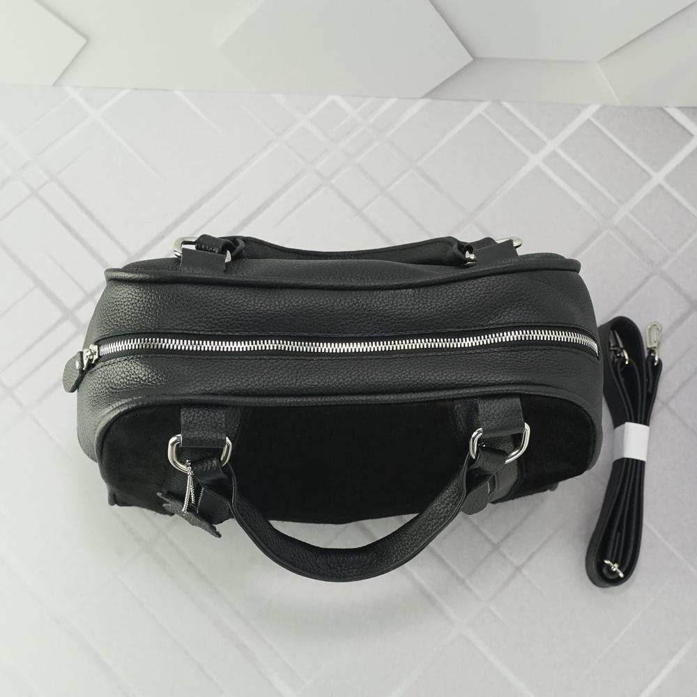 Кожаная женская сумка №222 черный