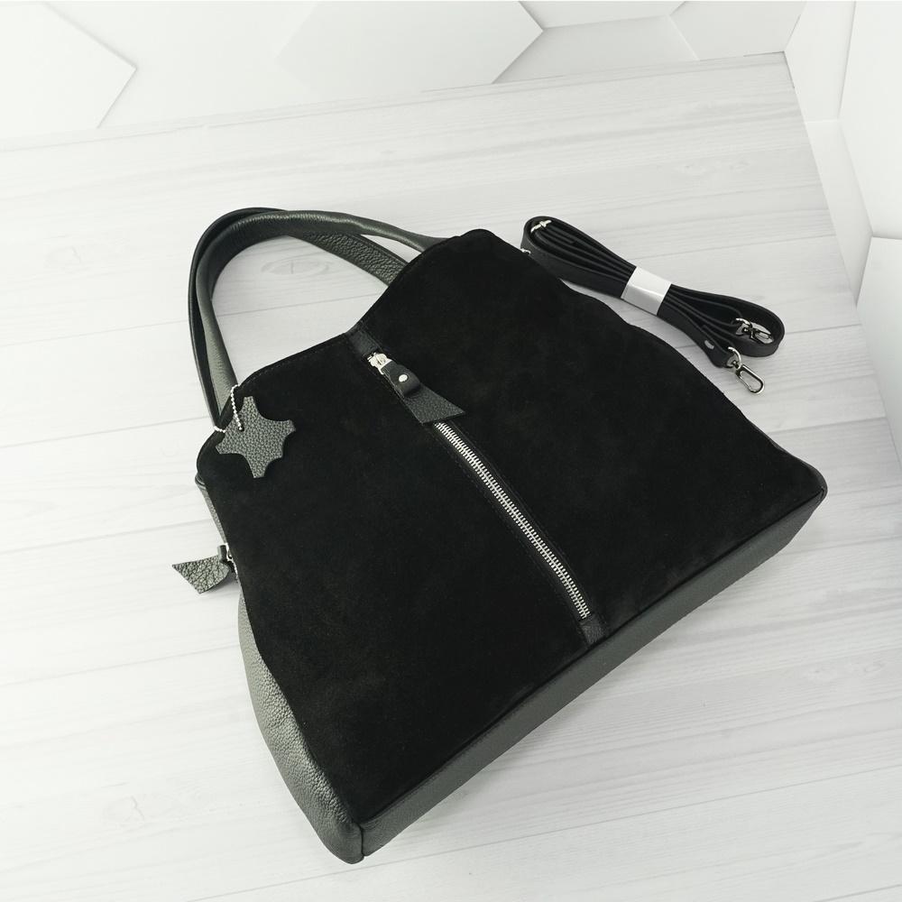Кожаная женская сумка №225 черный