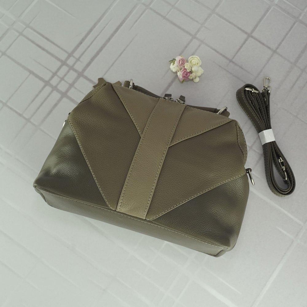 Кожаная женская сумка №220/3 капучино