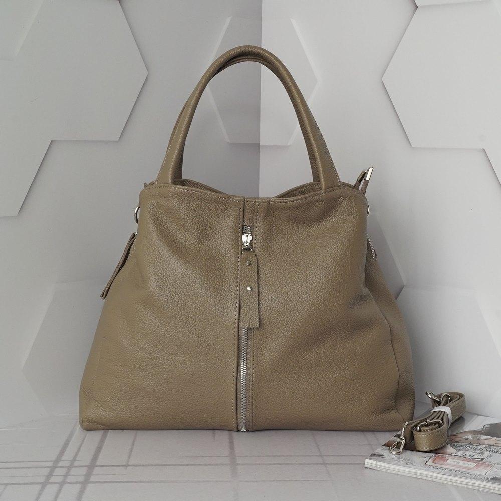 Кожаная женская сумка №225 капучино