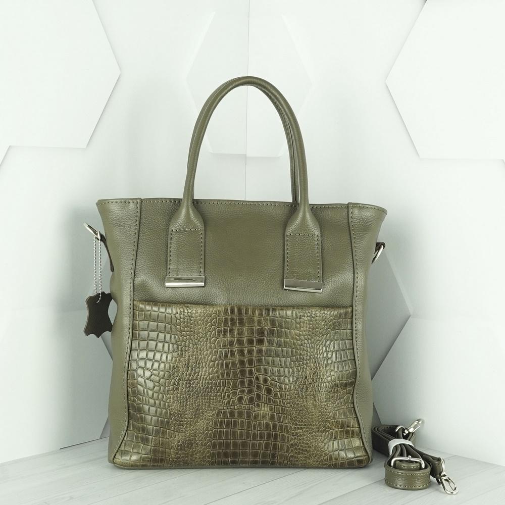 Кожаная женская сумка №237 капучино