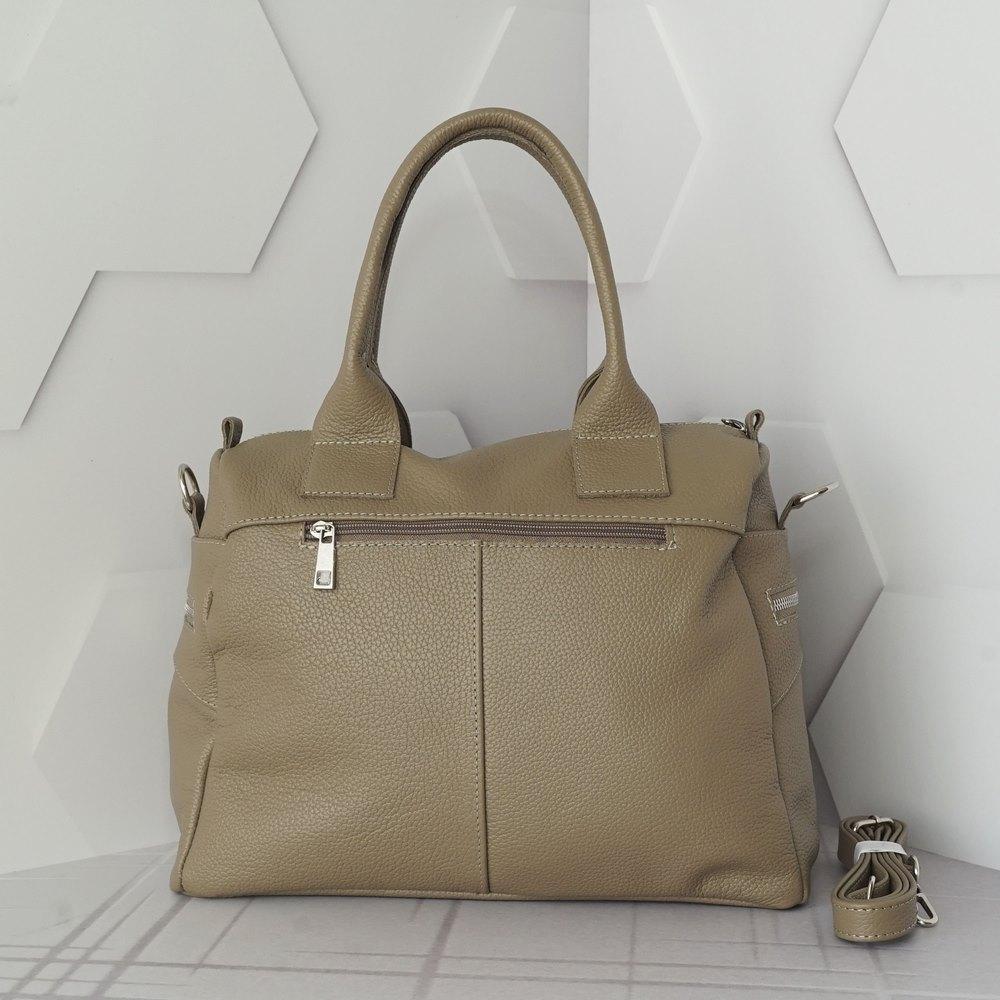 Кожаная женская сумка №245 капучино