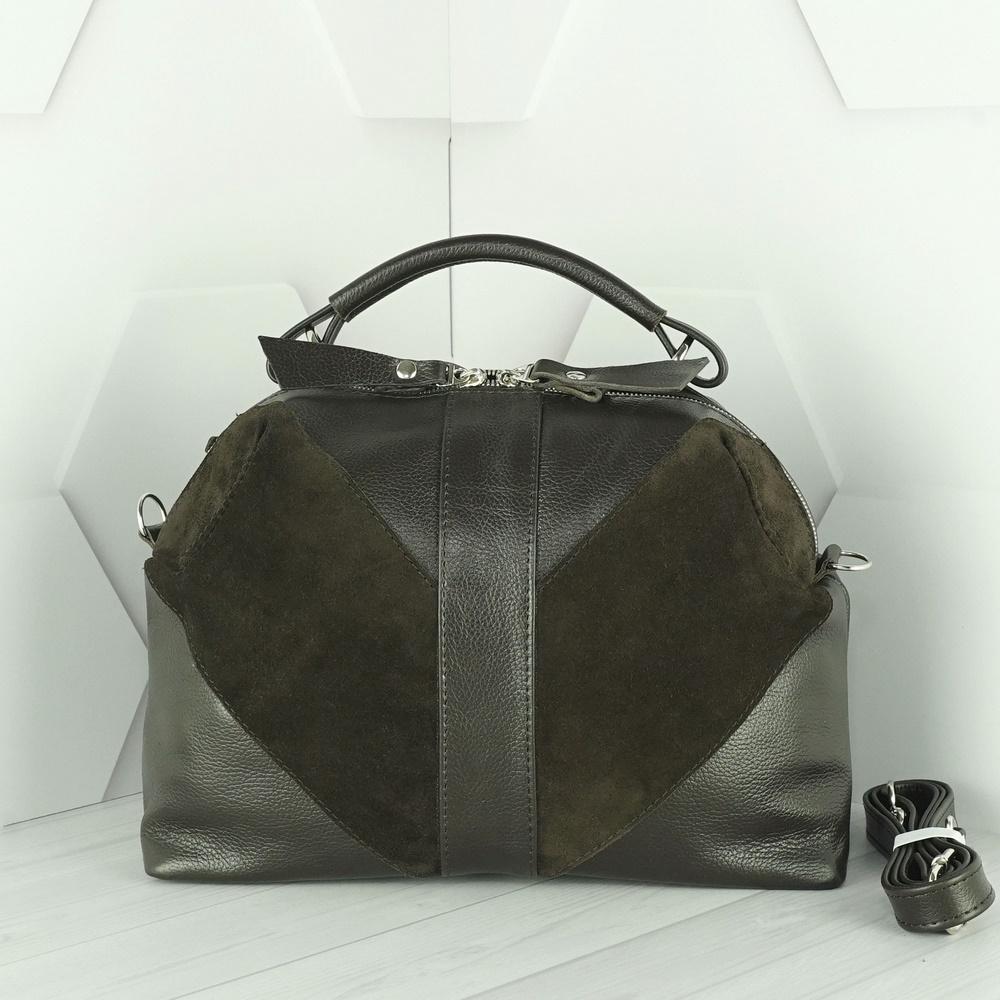Кожаная женская сумка №220 коричневый