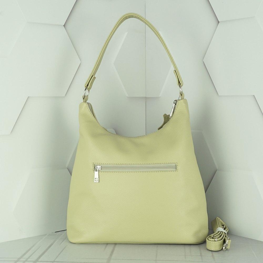 Кожаная женская сумка №211 бежевый