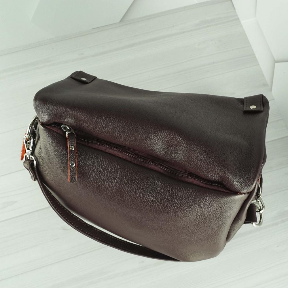 Кожаная женская сумка №230 бордо