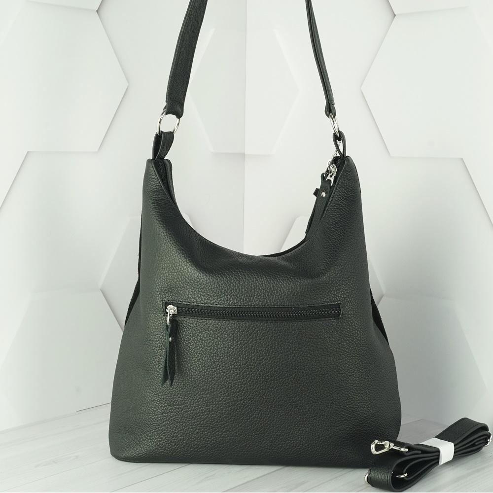 Кожаная женская сумка №210 черная