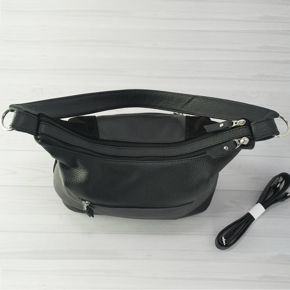 Кожаная женская сумка №211 черный