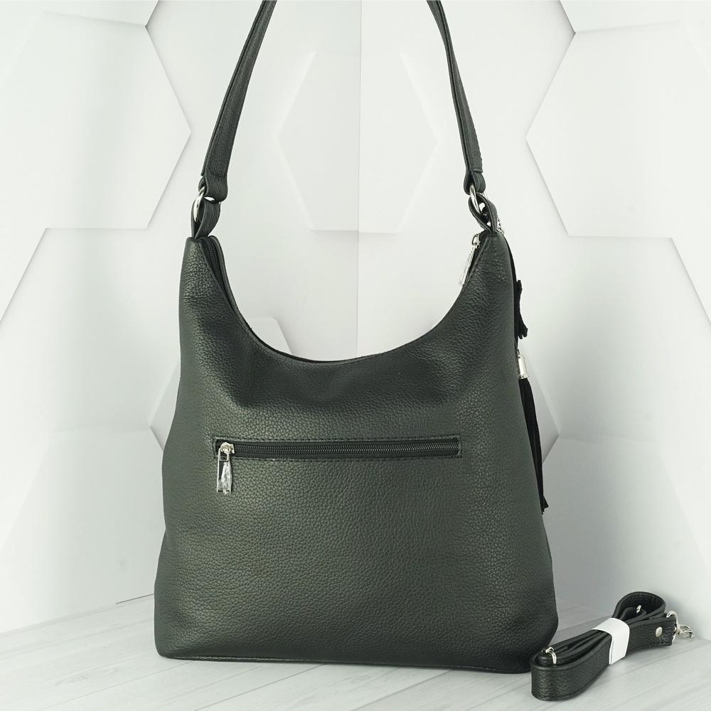 Кожаная женская сумка №212 черный