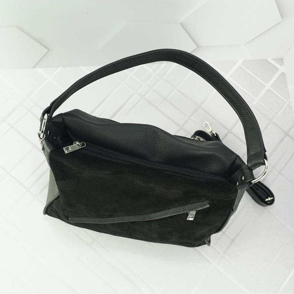 Кожаная женская сумка №223 черный