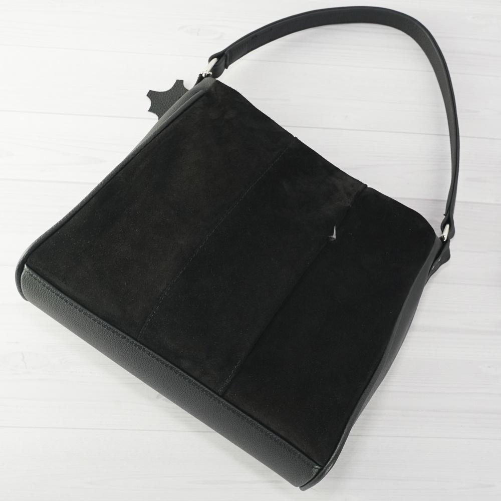 Кожаная женская сумка №224 черный