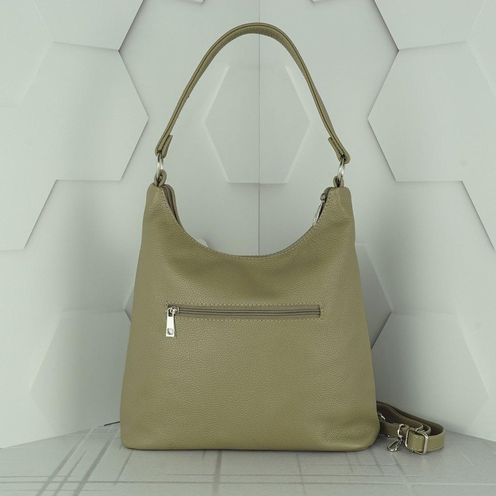 Кожаная женская сумка №212 капучино