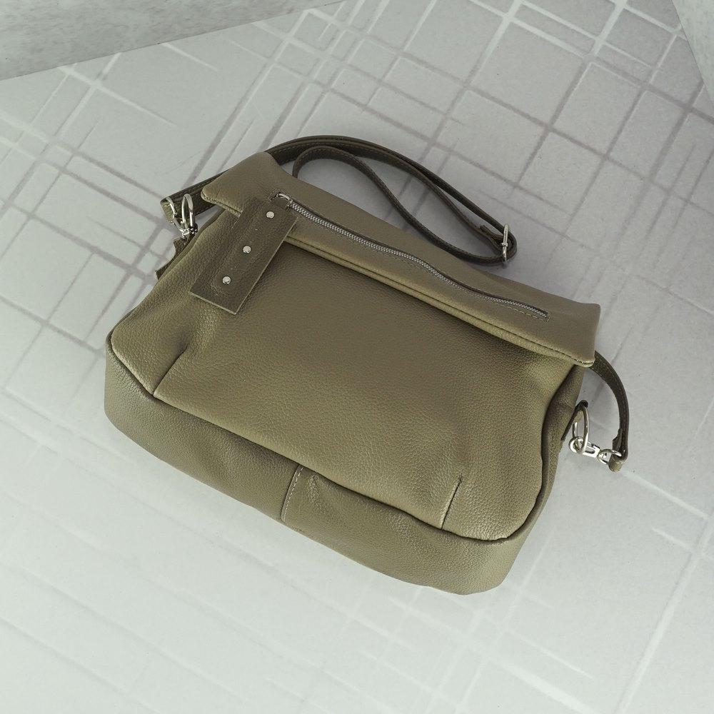 Кожаная женская сумка №230/2 капучино