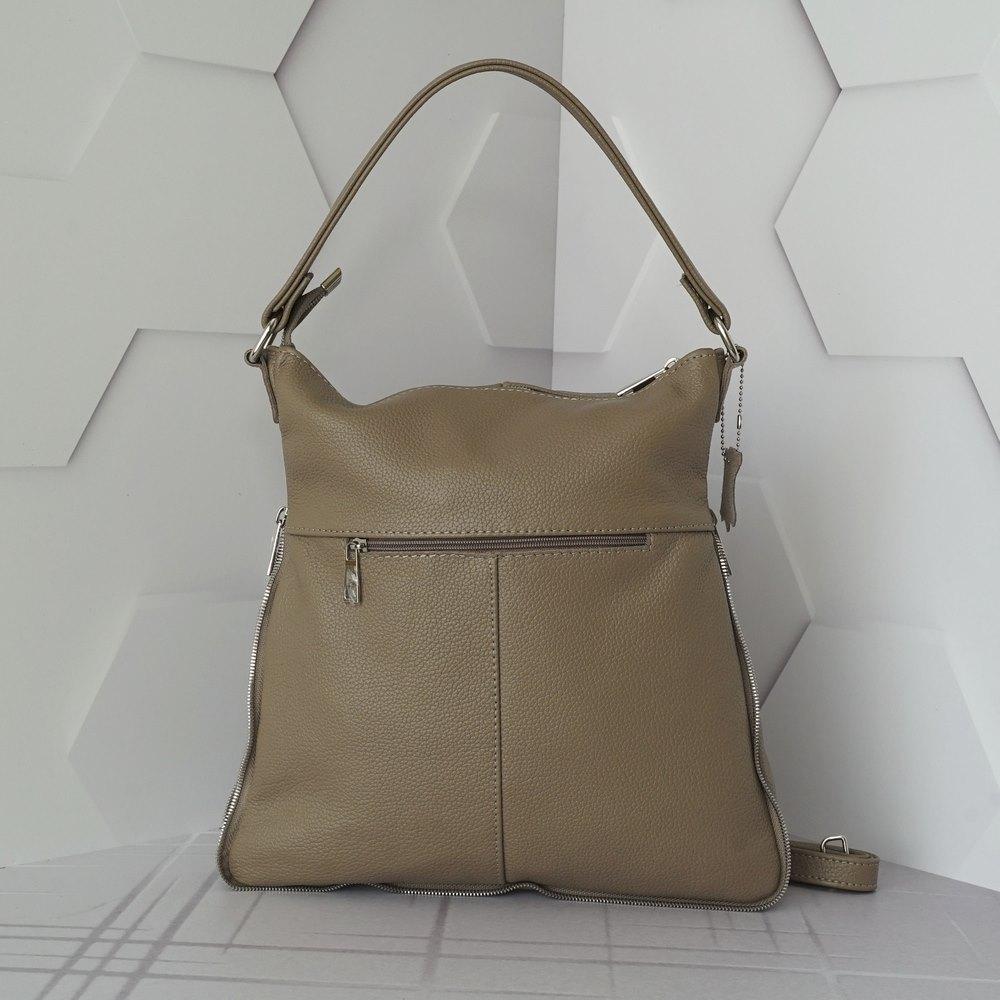 Кожаная женская сумка №234 капучино