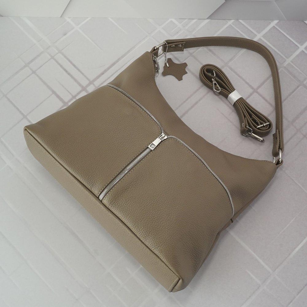 Кожаная женская сумка №235 капучино