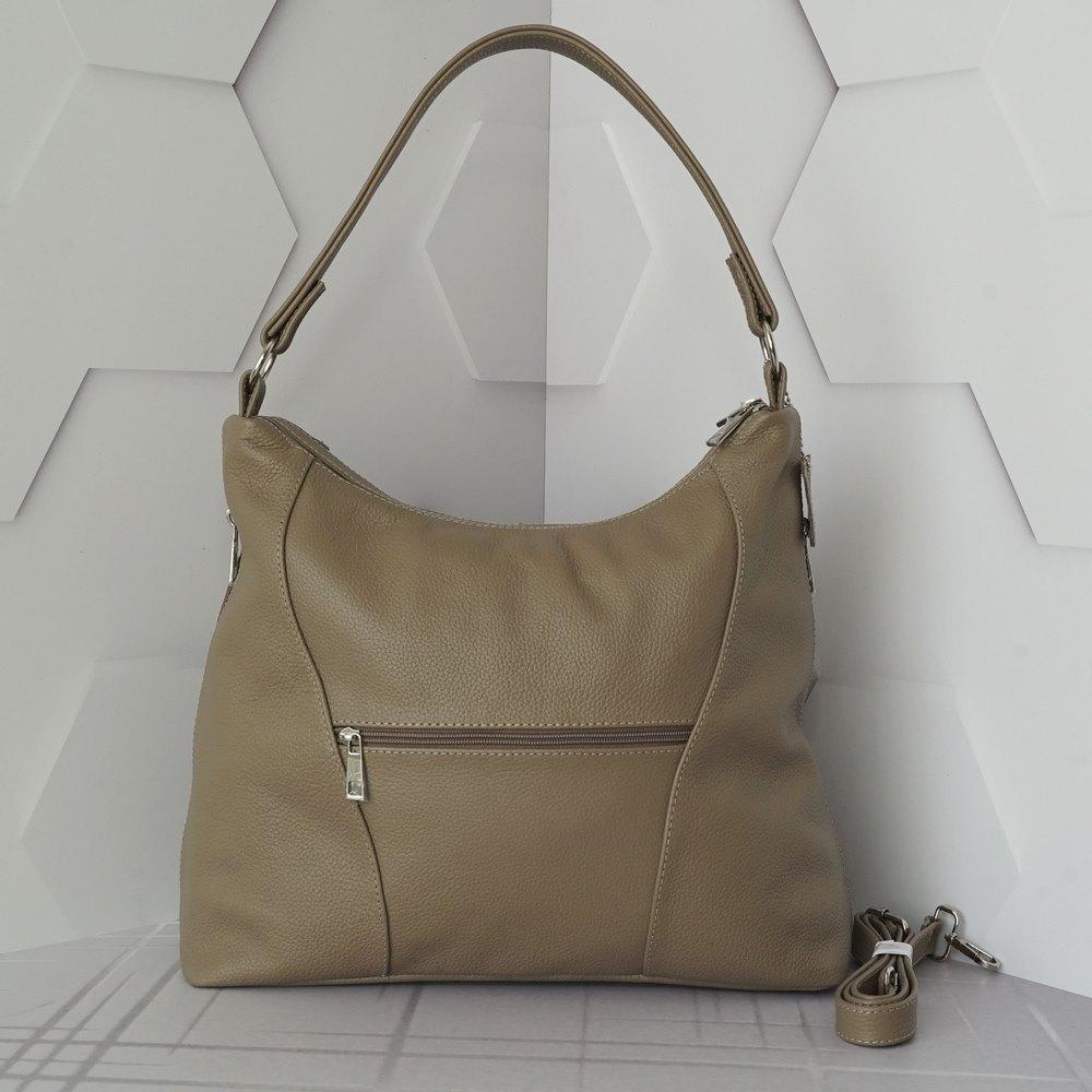 Кожаная женская сумка №236 капучино