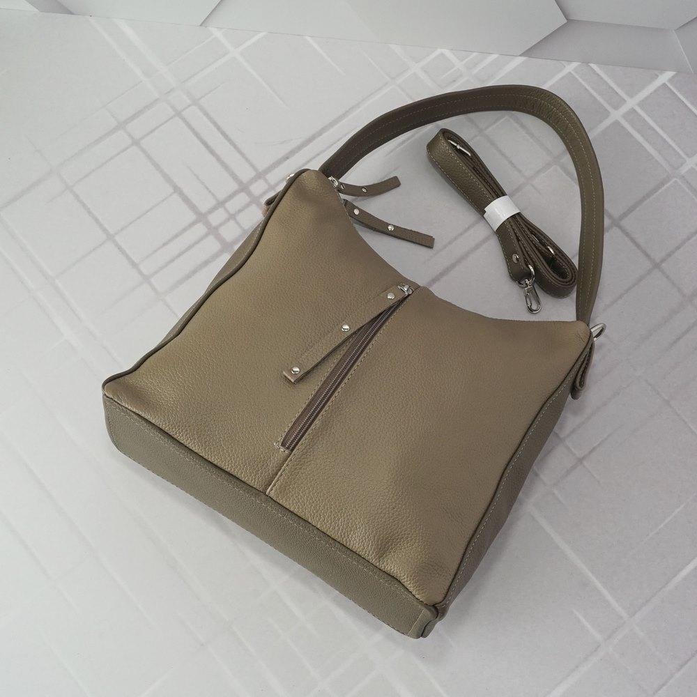 Кожаная женская сумка №253/2 бкапучино