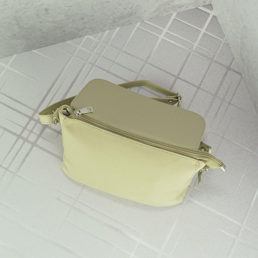 Женский кожаный клатч №228 бежевый