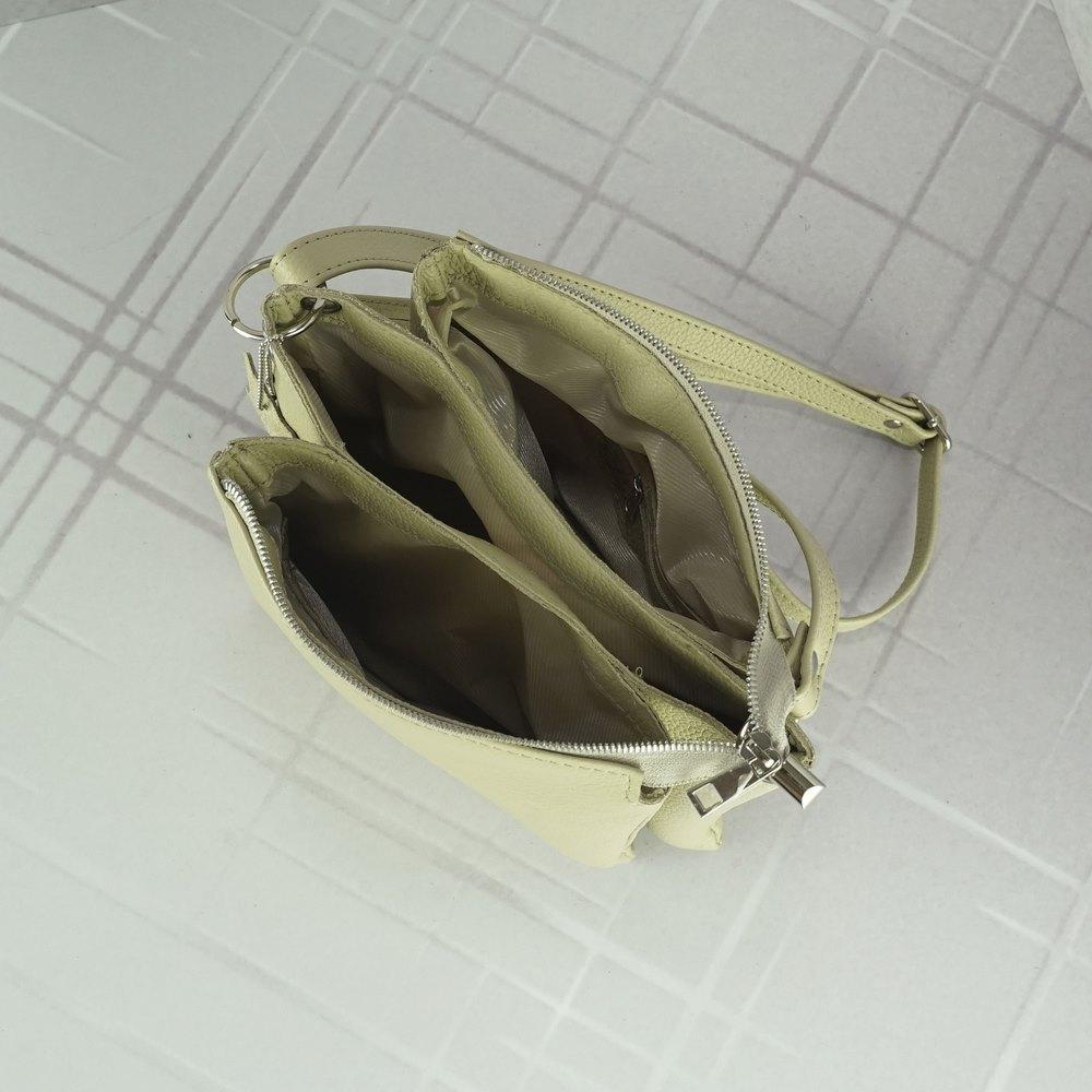 Женский кожаный клатч №231 бежевый