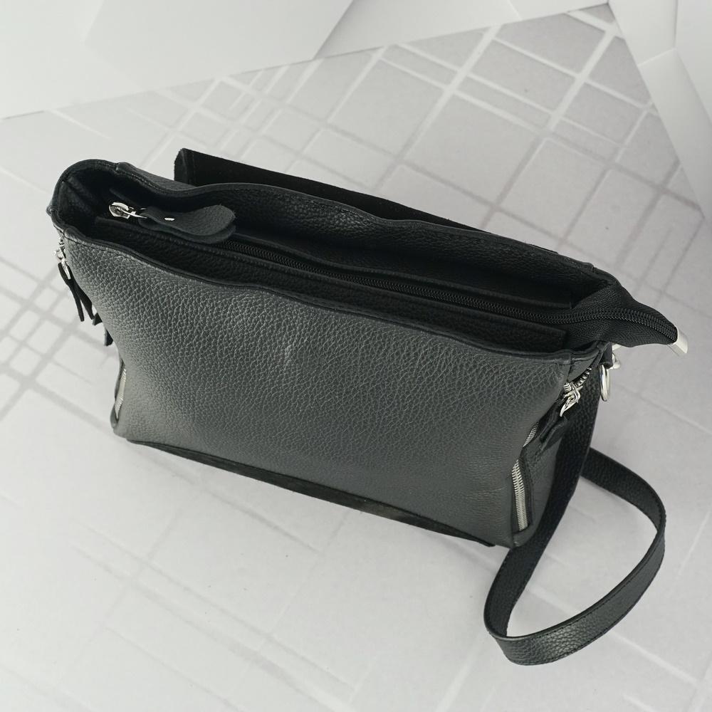 Женский кожаный клатч №227 черный