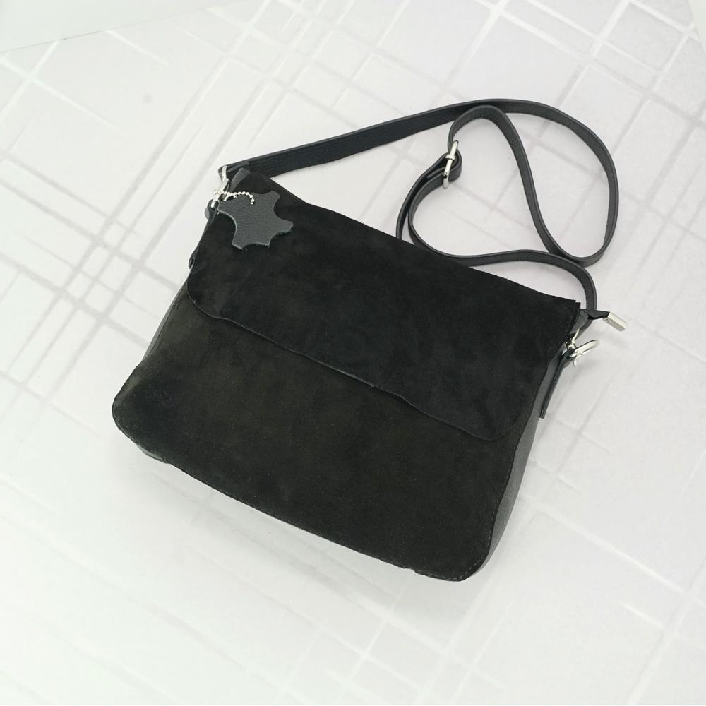 Женский кожаный клатч №228 черный