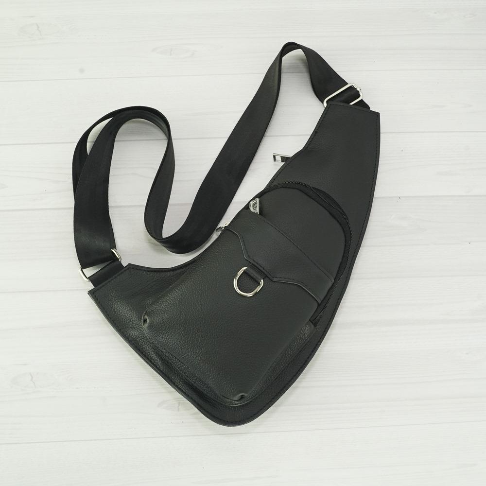 Кожаная мужская сумка рюкзак №1009-1 черный