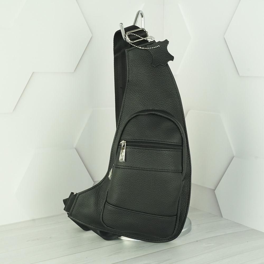 Кожаная мужская сумка рюкзак №1009 черный