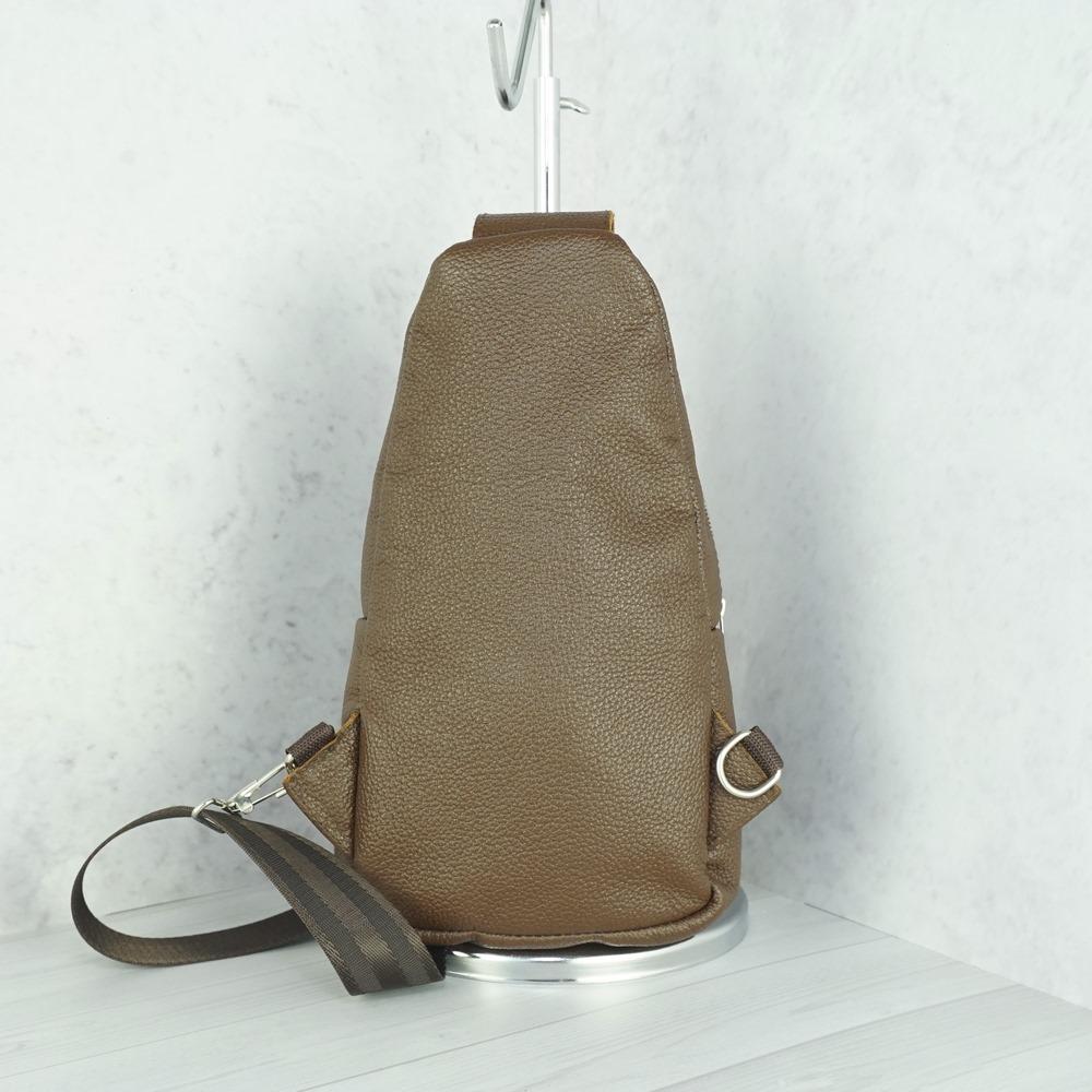 Кожаная мужская сумка рюкзак №1005 коричневый
