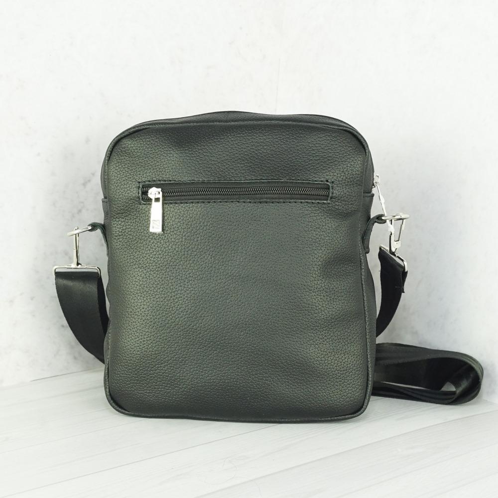 Кожаная мужская сумка №1000-1 черная