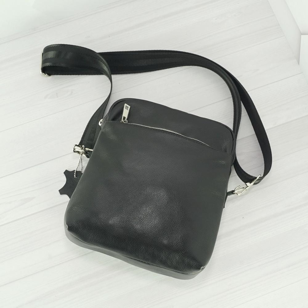 Кожаная мужская сумка №1000 черная