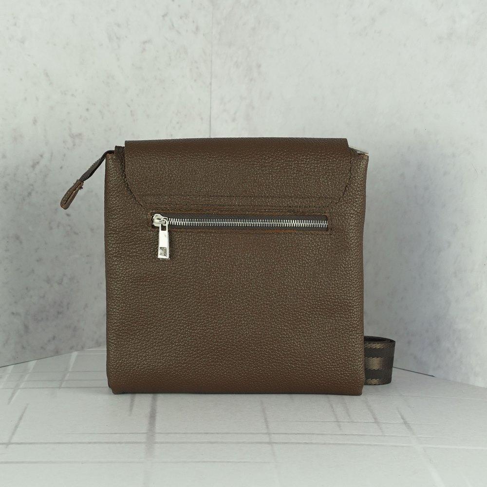 Кожаная мужская сумка №1001 коричневая