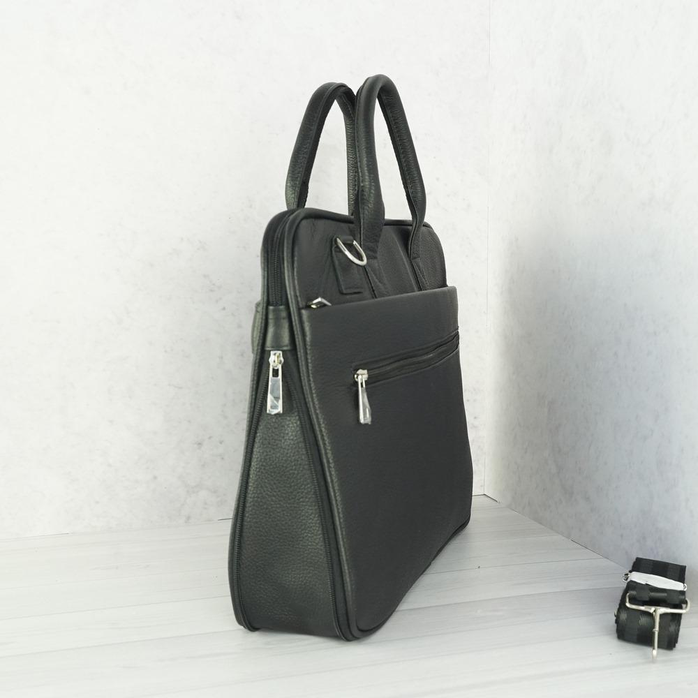 Мужской кожаный портфель №2000 черный